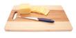 cheese on an cutting board