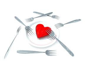Heart for eat
