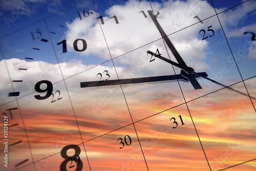 Clock and calendar - 25124329