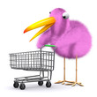 3d Birdy has a shopping spree