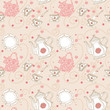 seamless romantic tea pattern