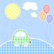 Cute baby greeting card - every object on separate layer