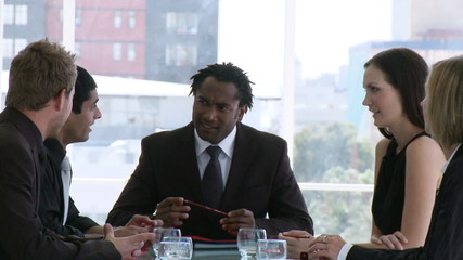 multi-ethnic businessteam during a meeting