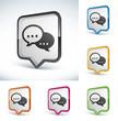 icône bouton bulle conversation