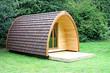A Modern Wooden Camping Pod Cabin Hut.