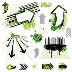 arrow design element