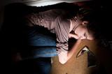 teenage problems. Loneliness, violence, depression poster