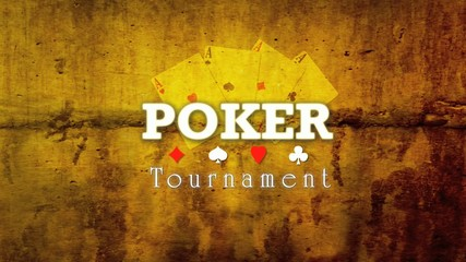 Poker tour template video background animation