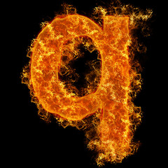 Fire small letter Q