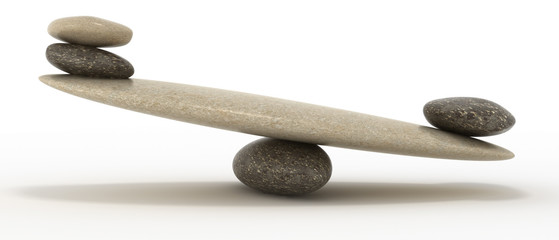 Pebble stability scales with large and small stones
