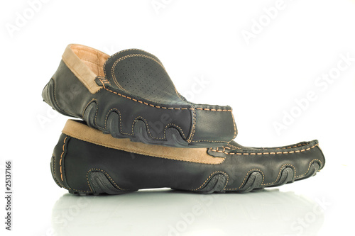 Trendy black mens shoes moccasins