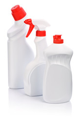 three cleaning bottle