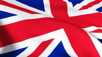 3d Graint Britain flag