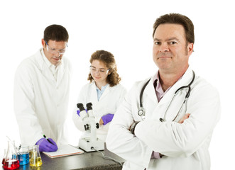Medical Doctor in Laboratory