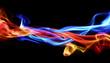 canvas print picture - Fire & Ice design