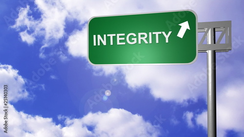 signpost showing the way to integrity