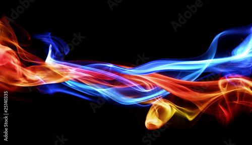canvas print picture Fire & Ice design