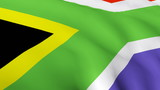 3D south of Africa flag