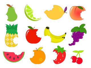 icône fruits croqués