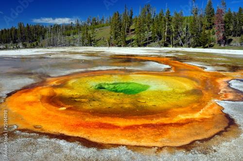 Fototapeta kolorowy - geotermalnych - Dziki pejzaż