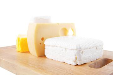 white soft cheeses and yellow danish