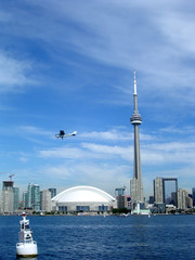 Toronto Lake Airplane over the Downtown 2004
