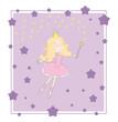 Princess vector purple card