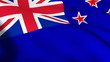 3d flag of New Zealand