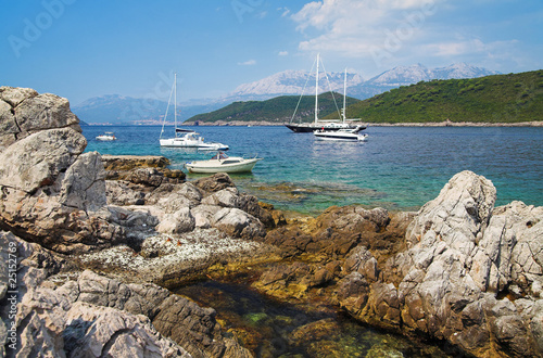 Yachts in the Kotor Bay, Montenegro