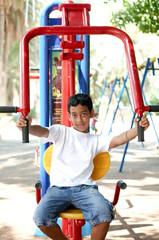 Boy on playground .