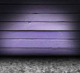 wooden purple grunge interior