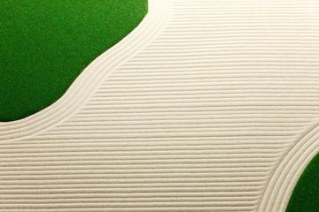 砂紋と芝生