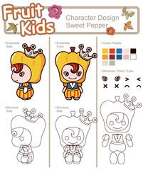 Cartoon Fruit Character 11
