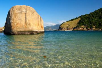 Crystalline sea beach in Niteroi, Rio de Janeiro, Brazil
