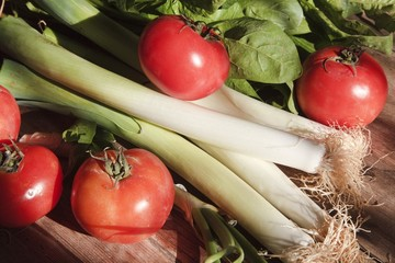 Celery, Tomatoes And Lettuce