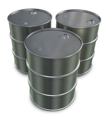 Three Oil Drums