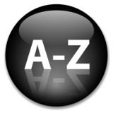A-Z Web Button (dictionary index find search directory alphabet) poster