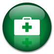 HEALTH Web Button (first aid emergency hospital kit fitness)