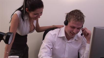 Woman flirting in Office