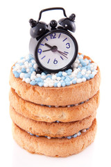 Dutch bicuits with blue white rusk and the time when the baby wa