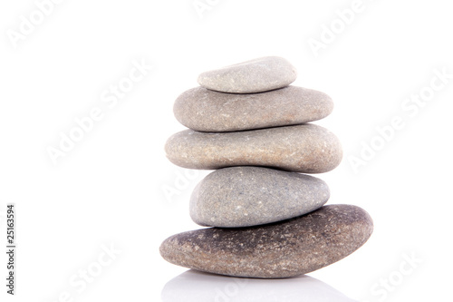 welness stones isolated on white background