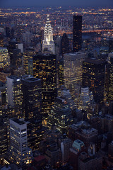Vertical Aerial view of Manhattan