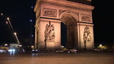 3D French landmark with fireworks at night