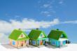 芝生の屋根の家