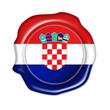 croatia button, seal, stamp