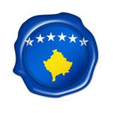 kosovo button, seal, stamp poster