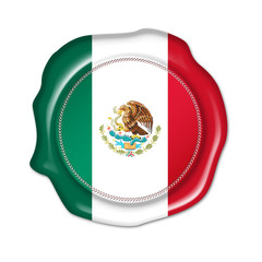 mexico button, seal, stamp