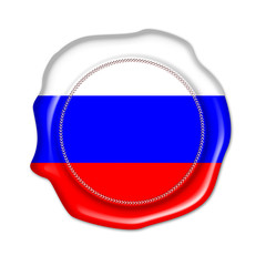 russia button, seal, stamp