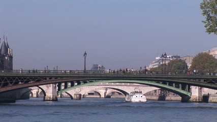 Boat in the river Seine