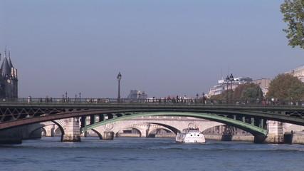 Boat in the river Seine